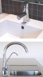Bathroom and Kitchen taps
