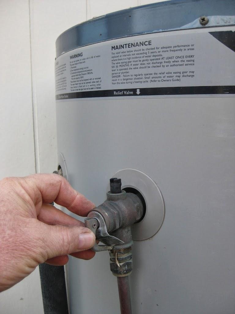 Leaking Hot Water Valve