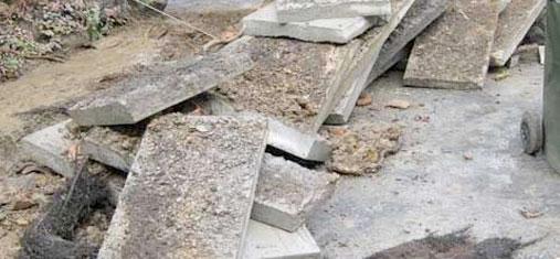 Path drain damage Camberwell