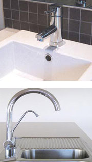 Bathroom and Kitchen taps