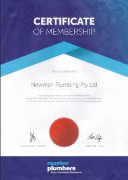 newman plumbing master plumbers since 1985