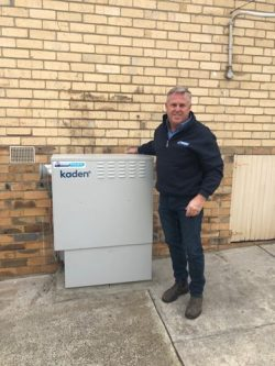 russell newman and hot water unit